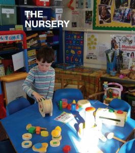 Nursery pupil learning