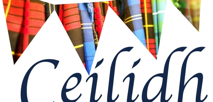 Banner to advertise the Ceilidh