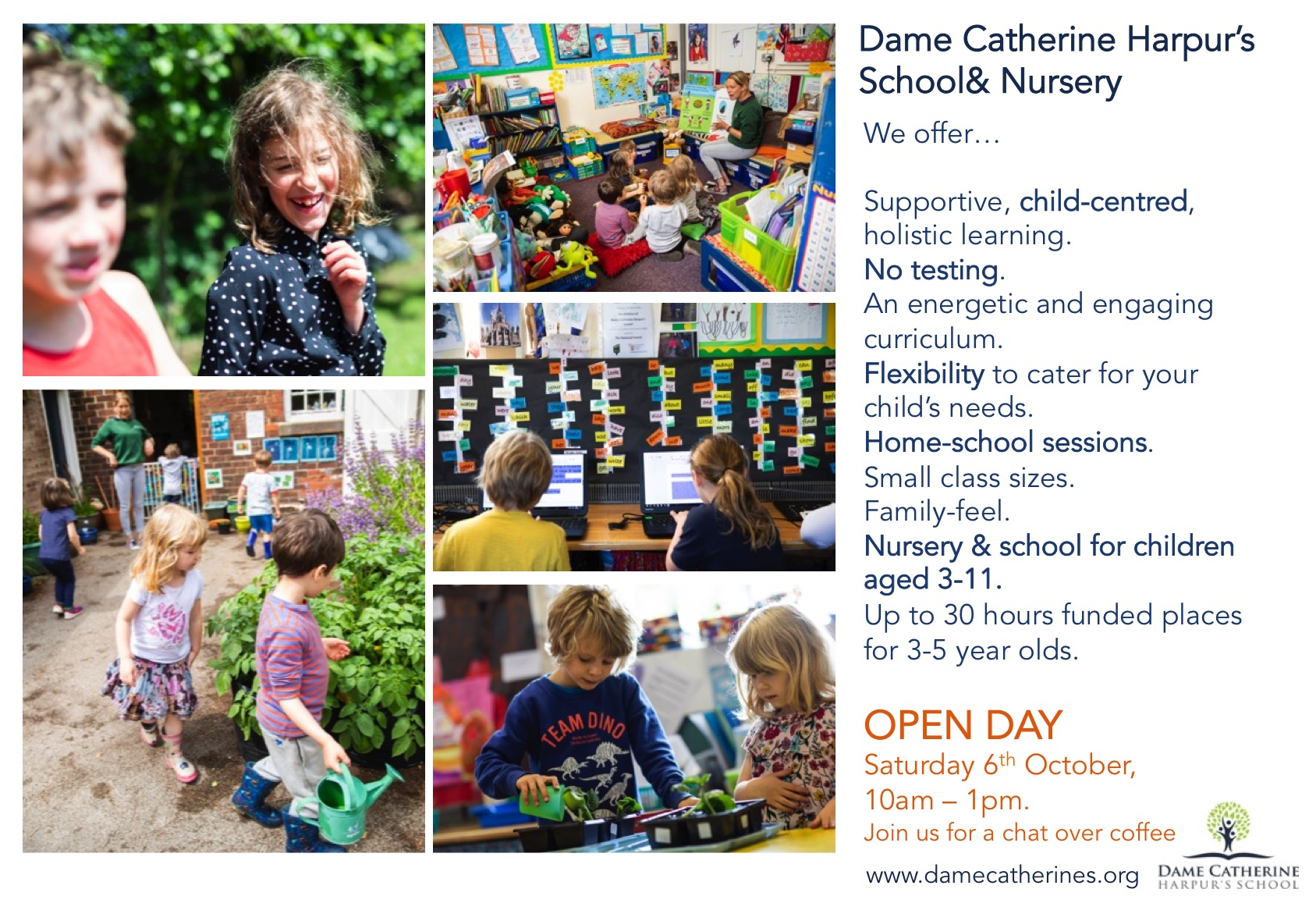 Open Day Sat 6th Oct 10am - 1pm