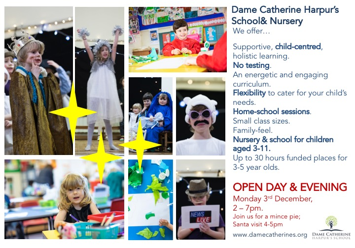 Open Day Monday 3rd December 2-7pm
